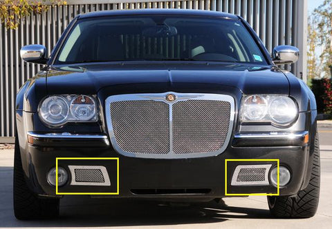 Chrysler 300C Bumper Grille 05-10 Chrysler 300C Mild Steel Polished Upper Class Series T-REX Grilles