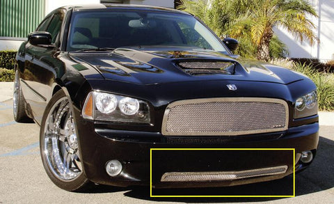 Charger Bumper Grille 05-10 Dodge Charger Stainless Polished Upper Class Series T-REX Grilles