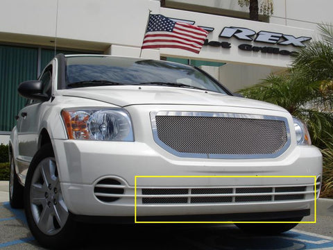 Caliber Bumper Grille 07-12 Dodge Caliber Not SRT Stainless Polished Upper Class Series T-REX Grilles