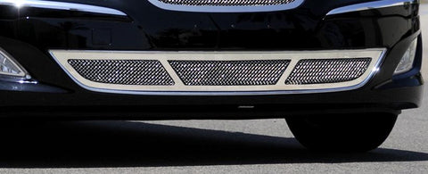 Genesis Sedan Bumper Grille 12-14 Hyundai Genesis Sedan Stainless Polished Upper Class Series T-REX Grilles