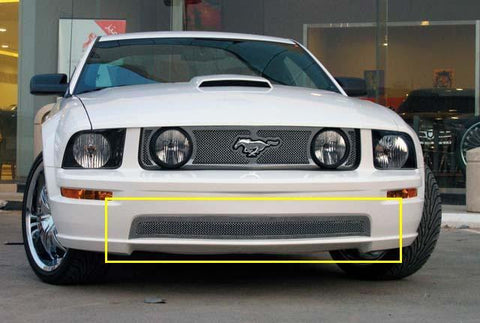 Mustang Bumper Grille 05-09 Ford Mustang GT Models Stainless Polished Upper Class Series T-REX Grilles