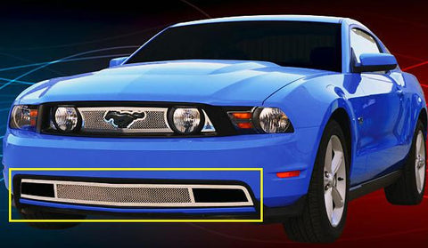 Mustang GT Bumper Grille 10-12 Ford Mustang GT Stainless Polished Upper Class Series T-REX Grilles