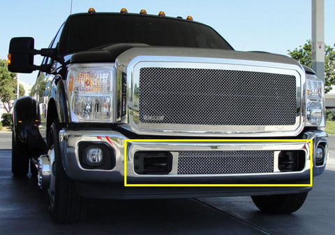 Super Duty Bumper Grille 11-16 Ford Super Duty Stainless Polished Upper Class Series T-REX Grilles