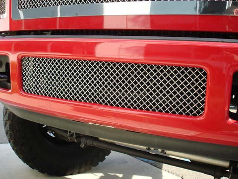 Super Duty Bumper Grille 08-10 Ford Super Duty Stainless Polished Upper Class Series T-REX Grilles