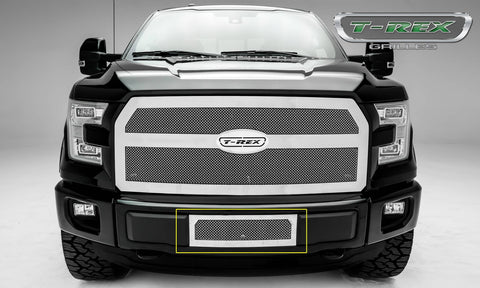 F-150 Bumper Grille 15-17 Ford F-150 XLT V8 Stainless Polished 1 Piece Upper Class Series T-REX Grilles