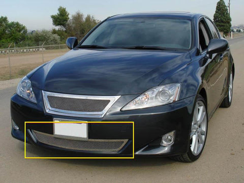 IS 250/350 Bumper Grille 06-08 Lexus IS 250/350 Stainless Polished Upper Class Series T-REX Grilles