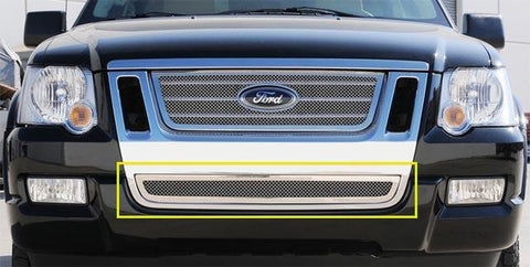 Explorer Bumper Grille 06-10 Ford Explorer SportTrac Stainless Polished Upper Class Series T-REX Grilles