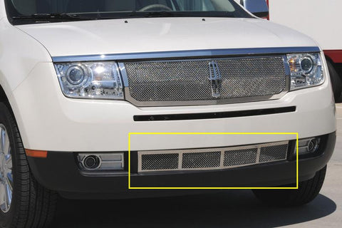 MKX Bumper Grille 07-10 Lincoln MKX Stainless Polished Upper Class Series T-REX Grilles