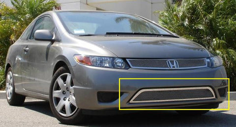 Civic Coupe Bumper Grille 06-08 Honda Civic Coupe Stainless Polished Upper Class Series T-REX Grilles