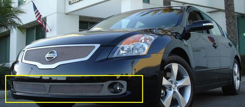 Altima Bumper Grille 07-09 Nissan Altima Stainless Polished Upper Class Series T-REX Grilles