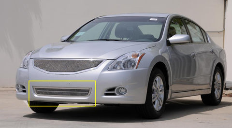 Altima Bumper Grille 10-12 Nissan Altima Stainless Polished Upper Class Series T-REX Grilles