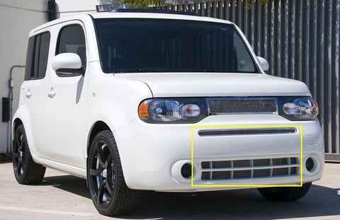 Cube Bumper Grille 09-13 Nissan Cube Stainless Polished Upper Class Series T-REX Grilles
