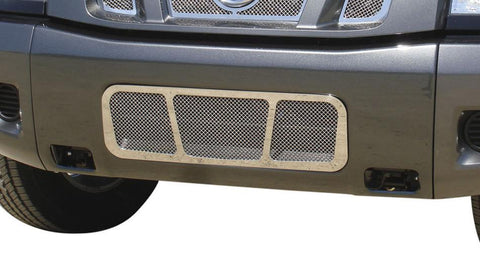 Titan Bumper Grille 04-14 Nissan Titan Stainless Polished Upper Class Series T-REX Grilles