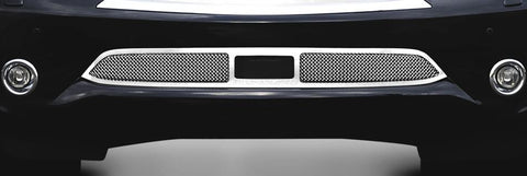 QX56 Bumper Grille 11-13 Infiniti QX56 W/Cruise Sensor Stainless Polished Upper Class Series T-REX Grilles