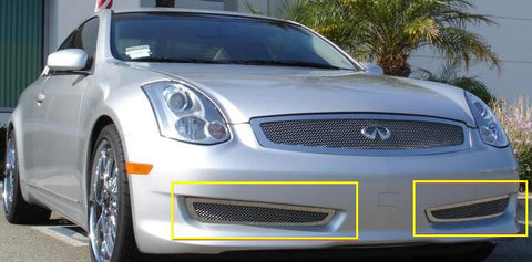 G-35 Coupe Sport Bumper Grille 06-07 Infiniti G-35 Coupe Sport Stainless Polished 2 Piece Upper Class Series T-REX Grilles