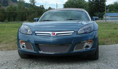 Sky Red Line Bumper Grille 07-09 Saturn Sky Red Line Stainless Polished 2 Piece Upper Class Series T-REX Grilles