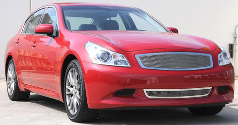 G-35 Sedan MT6 Bumper Grille 07-08 Infiniti G-35 Sedan MT6 Stainless Polished Upper Class Series T-REX Grilles