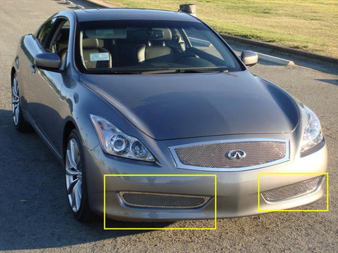 G-37 Coupe Bumper Grille 08-14 Infiniti G-37 Coupe Stainless Polished 2 Piece Upper Class Series T-REX Grilles