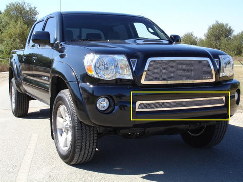 Tacoma Bumper Grille 05-11 Toyota Tacoma Stainless Polished Upper Class Series T-REX Grilles