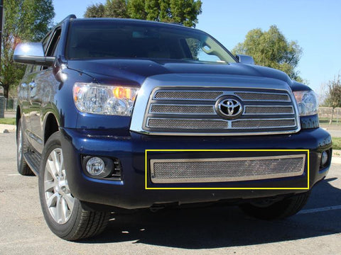 Sequoia Bumper Grille 08-14 Toyota Sequoia Stainless Polished Upper Class Series T-REX Grilles