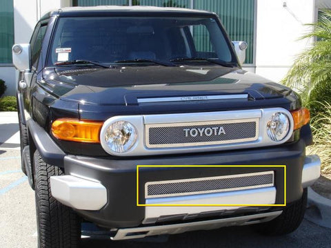 FJ Cruiser Bumper Grille 07-14 Toyota FJ Cruiser Stainless Polished Upper Class Series T-REX Grilles