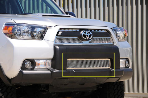 4Runner Bumper Grille 10-13 Toyota 4Runner Stainless Polished Upper Class Series T-REX Grilles