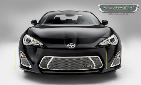 FR-S Fog Light Grille 14-15 Scion FR-S Stainless Polished 2 Piece Upper Class Series T-REX Grilles