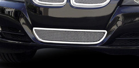 BMW Bumper Grille 09-11 BMW 3 Series Stainless Polished Upper Class Series T-REX Grilles