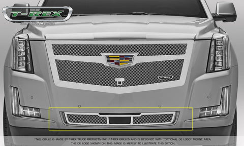 Escalade Bumper Grille 15-18 Cadillac Escalade For Adaptive CC Stainless Polished Upper Class Series T-REX Grilles