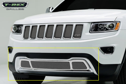 Grand Cherokee Bumper Grille 14-15 Jeep Grand Cherokee Stainless Chrome Upper Class Series T-REX Grilles