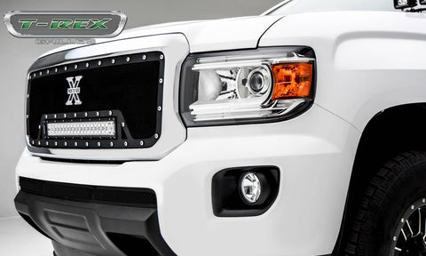 Canyon Grille 15-18 GMC Canyon Mild Steel Powdercoat Black 1 Piece Torch Series T-REX Grilles