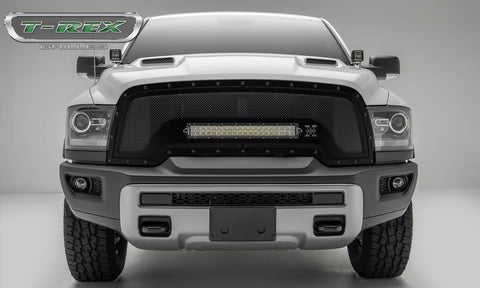 1500 Grille 15-18 RAM 1500 Mild Steel Powdercoat Black 1 Piece Stealth Torch T-REX Grilles