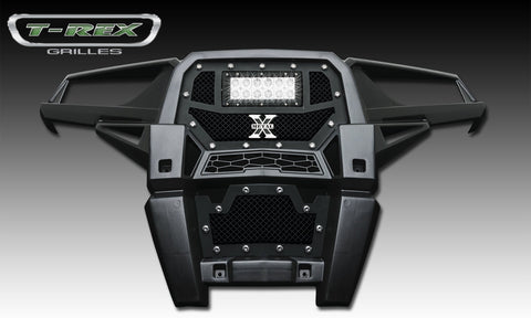 RZR XP 1000 Grille 14-14 Polaris RZR XP 1000 Mild Steel Powdercoat Black 1 Piece Torch Series T-REX Grilles