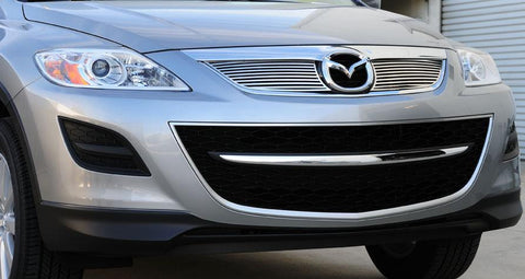 CX9 Grille 10-12 Mazda CX9 Stainless Polished 2 Piece T-REX Grilles