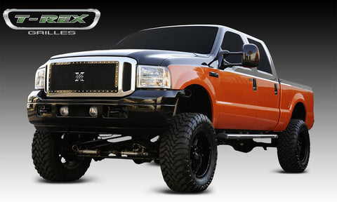 Super Duty Grille 05-07 Ford Super Duty Mild Steel Powdercoat Black X Metal Series T-REX Grilles