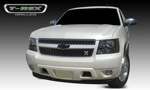 Chevy Grille 07-13 Chevrolet Tahoe/Suburban/Avalanche Mild Steel Powdercoat Black X Metal Series T-REX Grilles