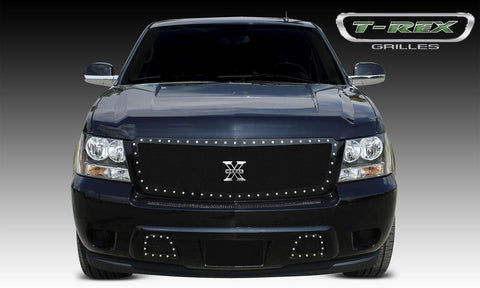 Chevy Grille 07-13 Chevrolet Tahoe/Suburban/Avalanche Mild Steel Powdercoat Black 1 Piece X Metal Series T-REX Grilles