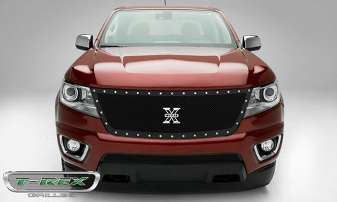 Colorado Grille 15-18 Chevrolet Colorado Mild Steel Powdercoat Black 1 Piece X Metal Series T-REX Grilles