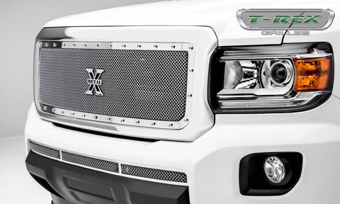 Canyon Grille 15-18 GMC Canyon Stainless Polished 1 Piece X Metal Series T-REX Grilles
