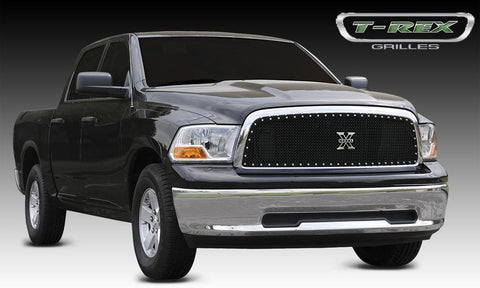 Ram 1500 Grille 09-12 Dodge Ram 1500 Mild Steel Powdercoat Black 1 Piece X Metal Series T-REX Grilles