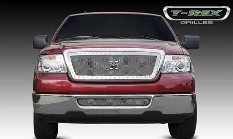 F-150 Grille 04-08 Ford F-150 Stainless Polished X Metal Series T-REX Grilles