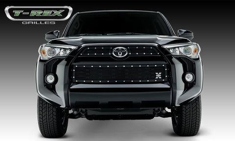 4Runner Grille 14-18 Toyota 4Runner Mild Steel Powdercoat Black 3 Piece X Metal Series T-REX Grilles