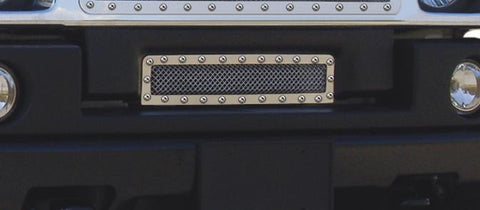 H2 Bumper Grille 03-07 Hummer H2 Stainless Polished X Metal Series T-REX Grilles