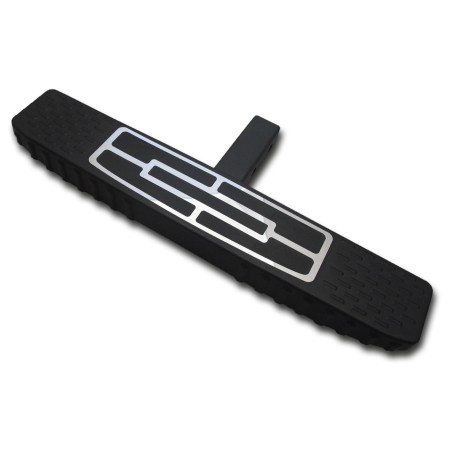 "2"" Black Coated Tongue / 4"" Flap Top Design / 24"" Length / Black Plastic Polyurethane HitchStep"