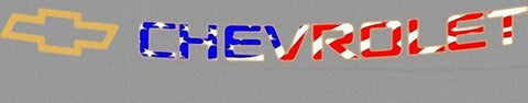 Patriotic windshield decal for 2002 to 2014 Chevy Avalanche, Tahoe, Suburban - Auto-Truck-Accessories