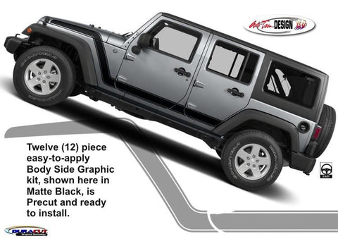 Advance Body Side Graphic Kit 1 for Jeep Wrangler - Auto-Truck-Accessories