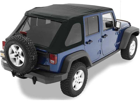 07-15 WRANGLER UNLIMITED(NO DOORS INCL) TINTED WINDOWS TREKTOP NX SOFT TOP-BLACK DIAMOND - Auto-Truck-Accessories  - 1