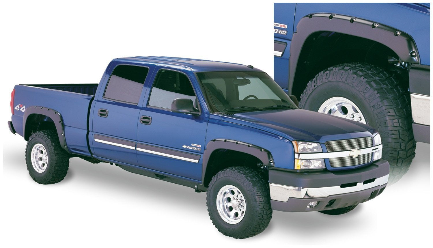 Silverado 2003 chevy silverado 1500 accessories : Bushwacker Pocket Style fender flares 2003-2006 Chevy Silverado ...