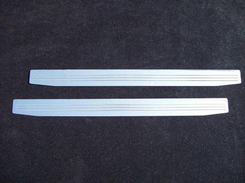 2010-up Camaro Door Sill Plates with 3 Milled Lines (pair) - Polished - Auto-Truck-Accessories  - 1