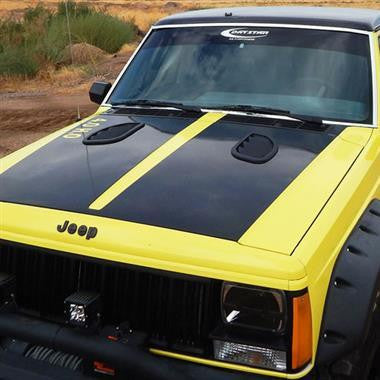 Daystar XJ Hood Louvers 1984-2001 Jeep XJ and 1986-1992 Jeep MJ